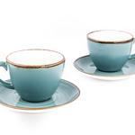 Tulia Porselen 4 Parça Çay Fincanı Takımı 210 Ml Koyu Mavi