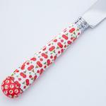 Cherry Paslanmaz Çelik 6'lı Yemek Bıçağı . Kırmızı