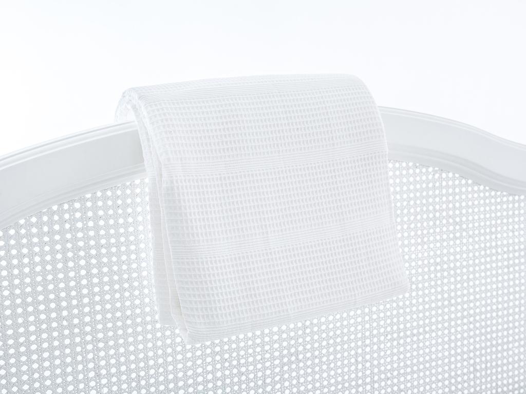 Düz Pamuklu Tek Kişilik Pıke 150x230 Cm Beyaz