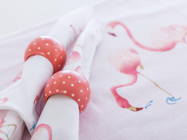 Flamingos Baskılı Servis Seti