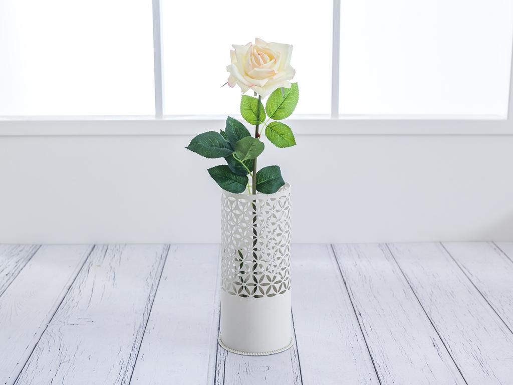 Garden Rose Yapay Çiçek 74 Cm Krem - Pembe