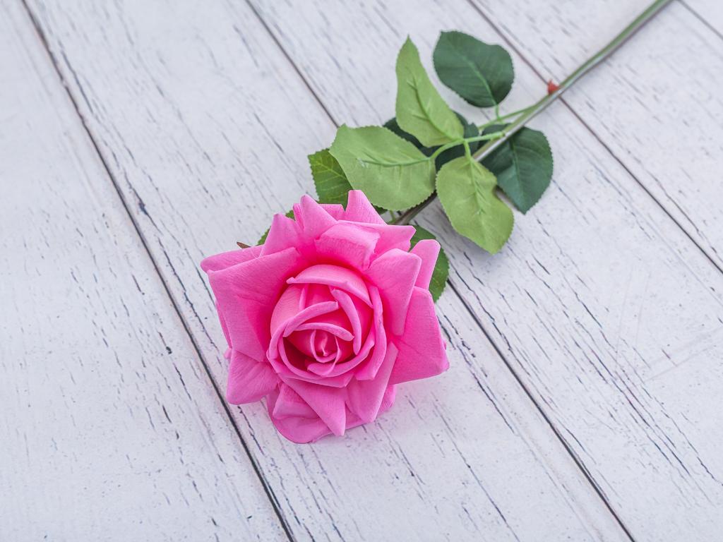 Garden Rose Yapay Çiçek 74 Cm Fuşya