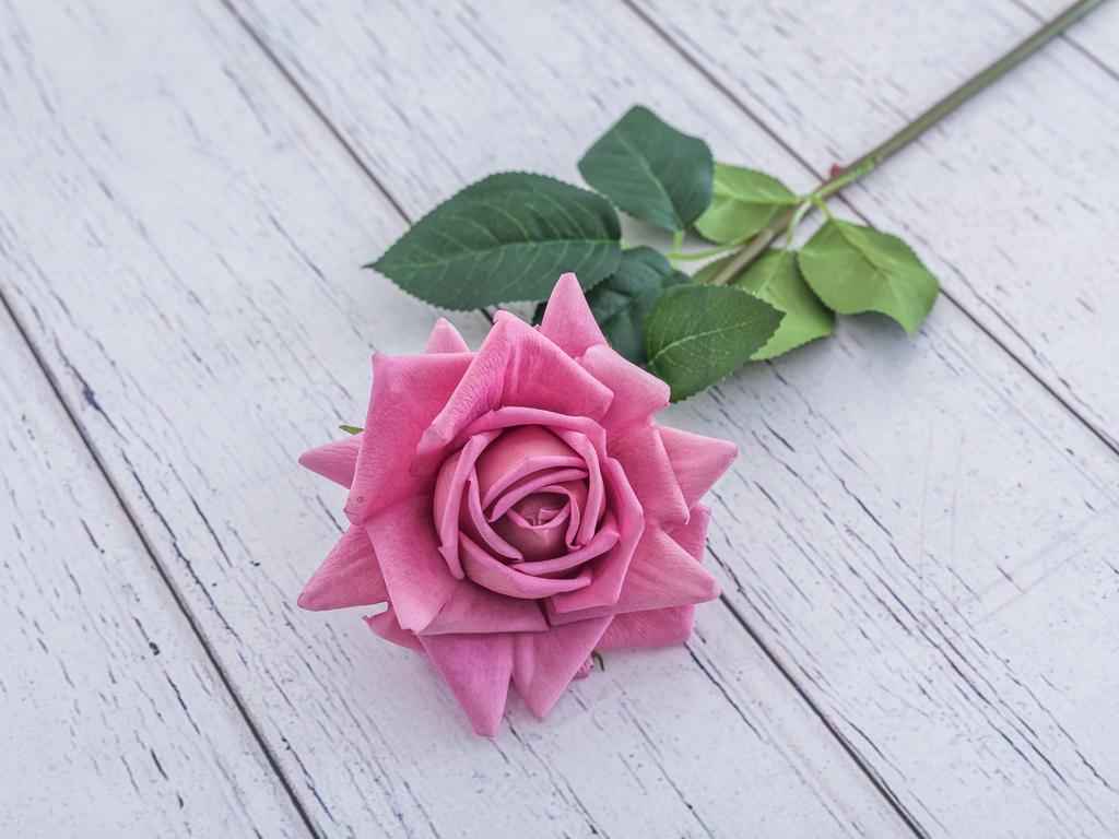 Garden Rose Yapay Çıçek 74 Cm Gül Kurusu