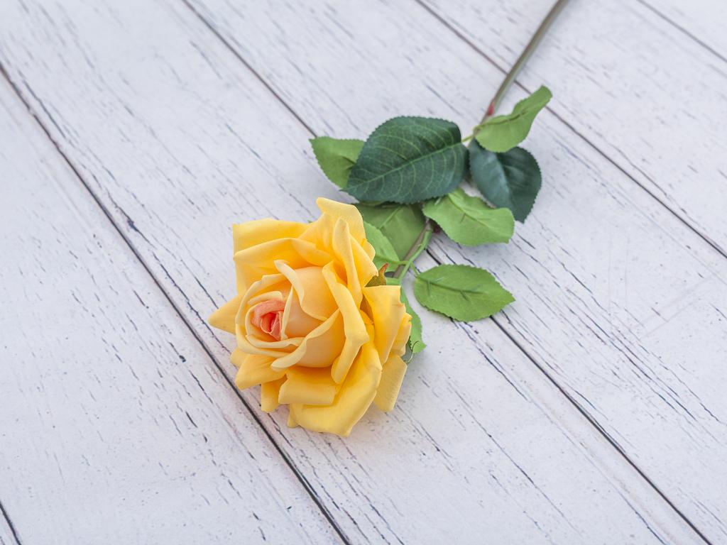 Garden Rose Yapay Çıçek 74 Cm Sarı