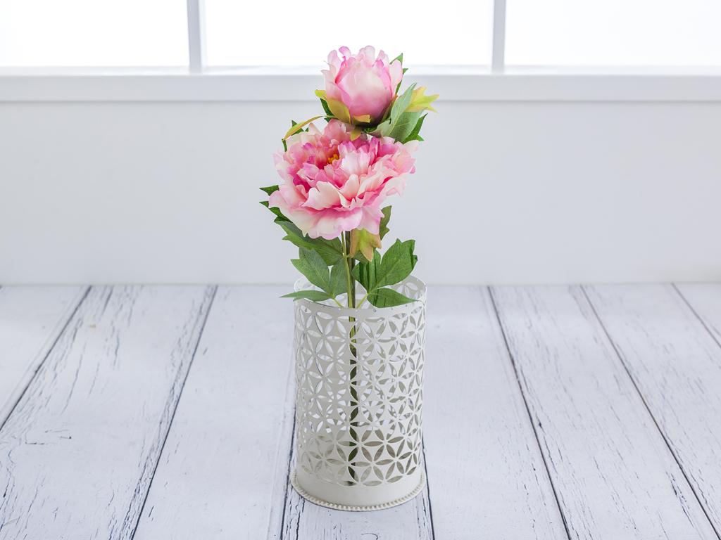 Peony 2 Head Yapay Çıçek 53 Cm Pembe