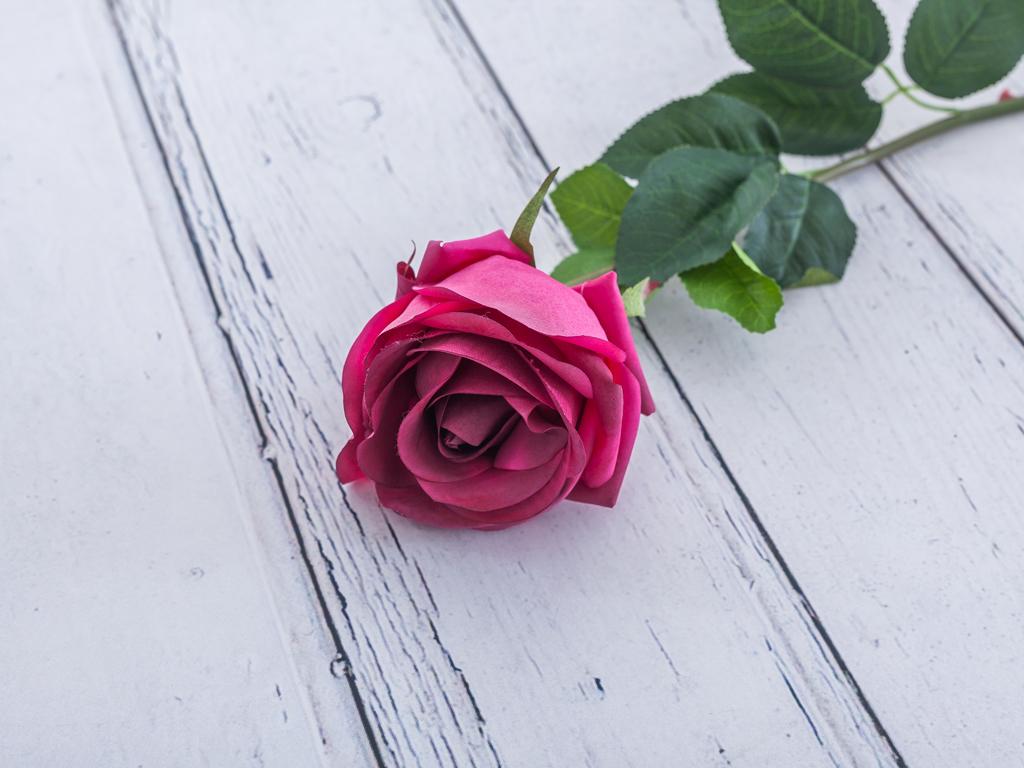 Rose Bud Yapay Çıçek 78 Cm Fuşya