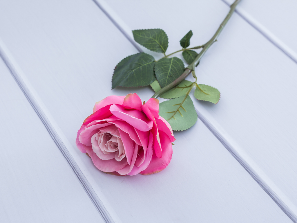 Rose Yapay Çiçek 56 Cm Gül Kurusu