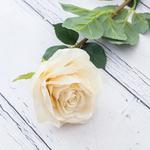 Rose Yapay Çiçek 76 Cm Beyaz