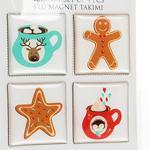 Winter Snacks Magnet 4x4 Cm Kırmızı