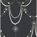 Jewels Vinil Çocuk Duvar Kağıdı 53x1000 Cm Koyu Gri