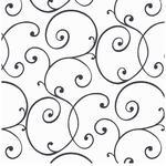 Scroll Vinil Çocuk Duvar Kağıdı 53x1000 Cm Siyah