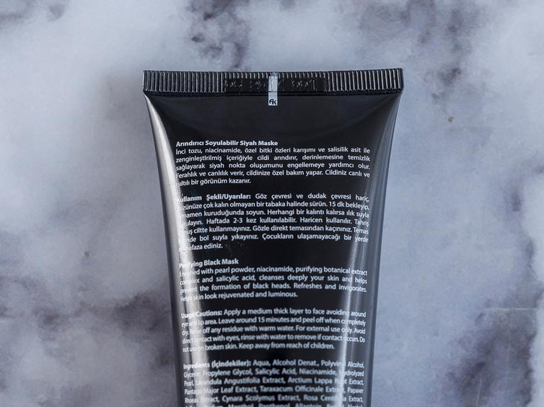 Pearl Soyulabılır Maske 100 Ml Siyah
