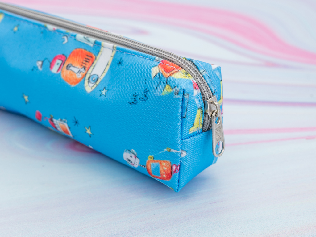 Robot Polyester Kalemlık 18,0x5,5x3,5 Cm Kırmızı - Mavi