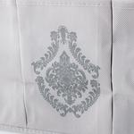 Damask Polyester 3 Bölmeli Organizer 35x25 Cm Taş Rengi