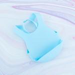 Düz Silikon Ayarlanabilir Bebe Önlük 8x26x4,6 Cm Mavi