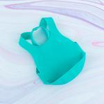 Düz Silikon Ayarlanabilir Bebe Önlük 8x26x4,6 Cm Yeşil