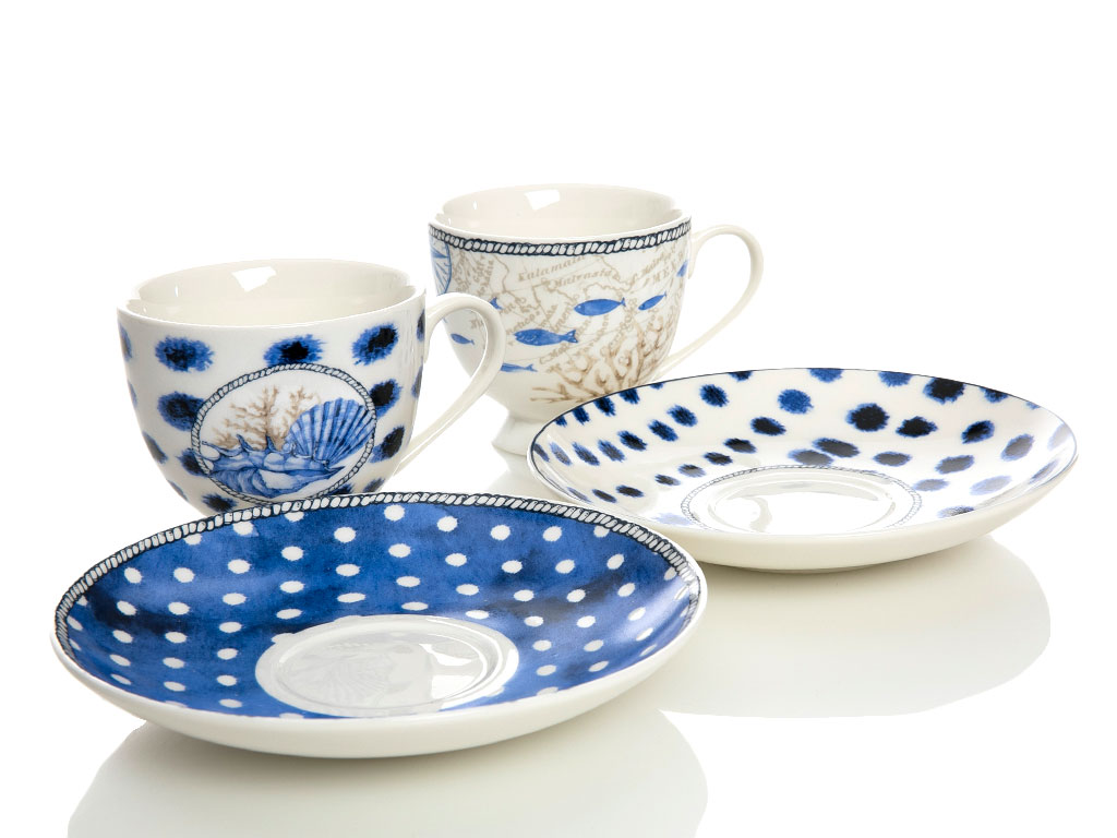 Ocean Blue Bone China 2'li 210 Ml Mavi