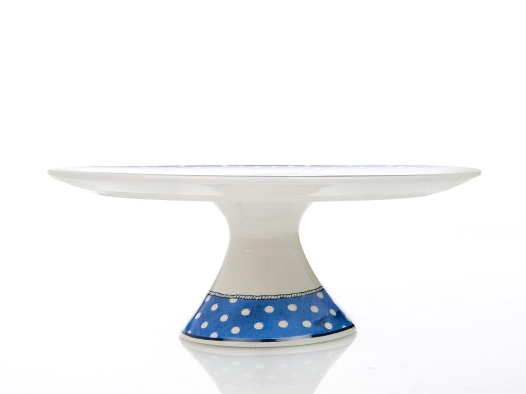 Ocean Blue Bone China 28 Cm Mavi