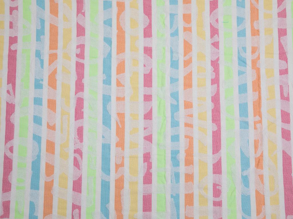 Colourful Jakarlı Plaj Havlusu 80x150 Cm Renkli