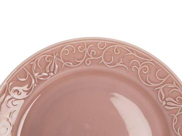 Helena Porselen Tekli Servis Tabağı 25 Cm Pembe