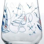 Kıvrımlı Cam 3'lü Meşrubat Bardağı 290 Ml Renkli