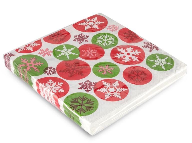 Snow Flake Kağıt 22 Adet Kağıt Peçete 33x33 Cm Renkli