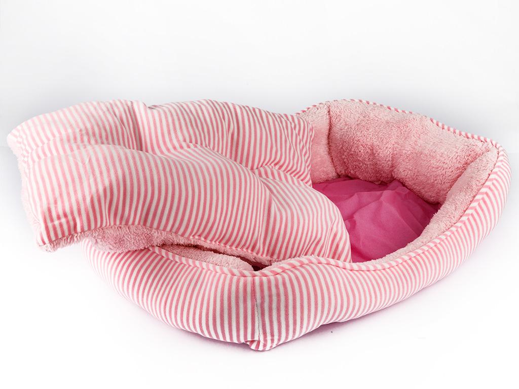 Pet Bed Polyester Pet Yatağı 47x33x12 Cm Açık Pembe