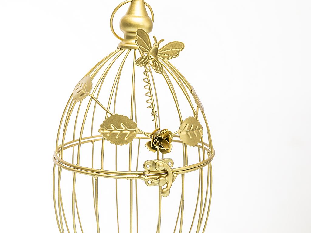 Tiara Ferforje Saksı 17x16x19 Cm Gold