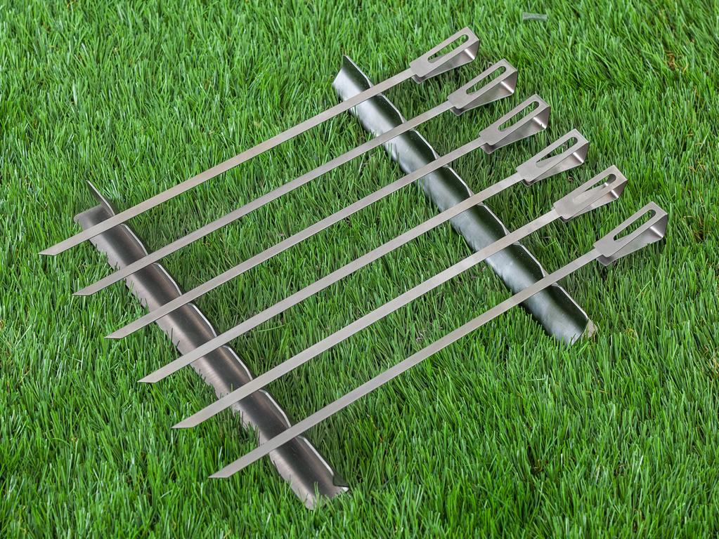 Marlyn Paslanmaz Çelik 6'lı Izgara Set 38 Cm Gri