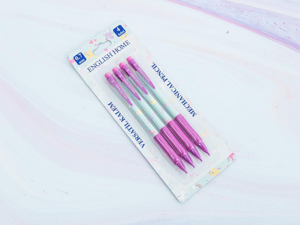 Unicorn Plastik Kalem 8x22x1 Cm Mint - Lila - Pembe