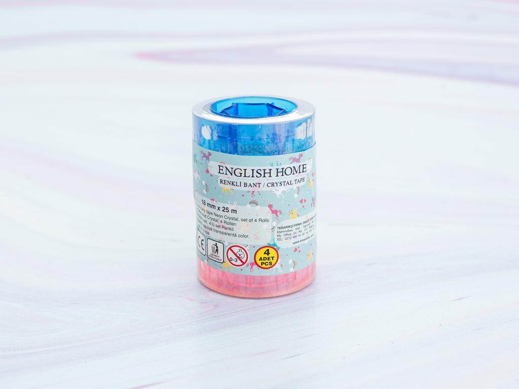 Unicorn Plastik Bant 5x7 Cm Mint - Lila - Pembe