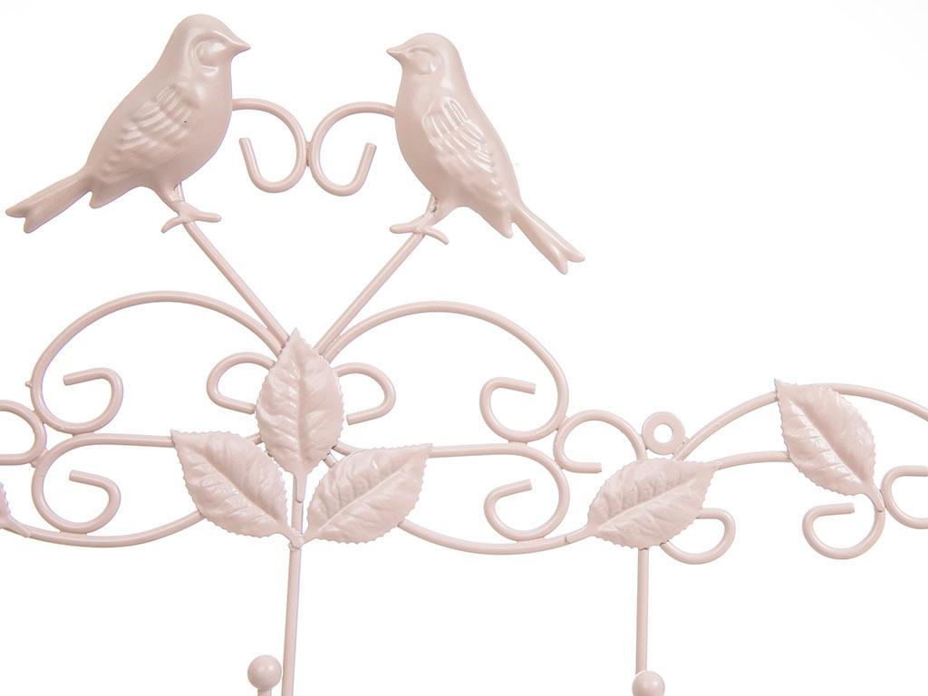 Love Birds Ferforje 5'li Askı 59x5,5x25,5 Cm Açık Pembe