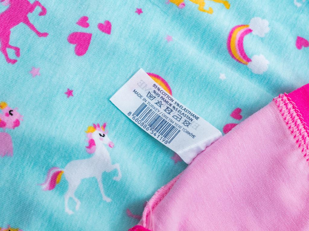 Unicorn Pamuk Kız Çocuk İç Çamaşır Takımı 3-4 Yaş Pembe