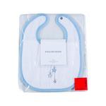 Swan Nakışlı Bebe Önlük 23x29 Cm Mavi