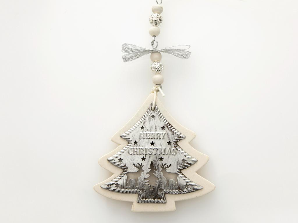 New Year Askılı Aksesuar 8x15x1.5 Cm Gümüş