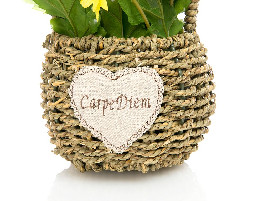Carpe Diem Yapay Çiçek 29 Cm Beyaz - Sarı