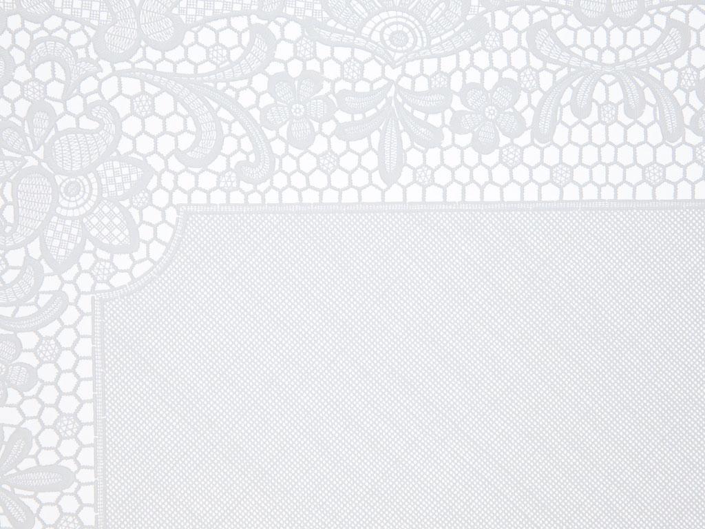 Rose Scroll Vinil 2'li 30x45 Cm Beyaz