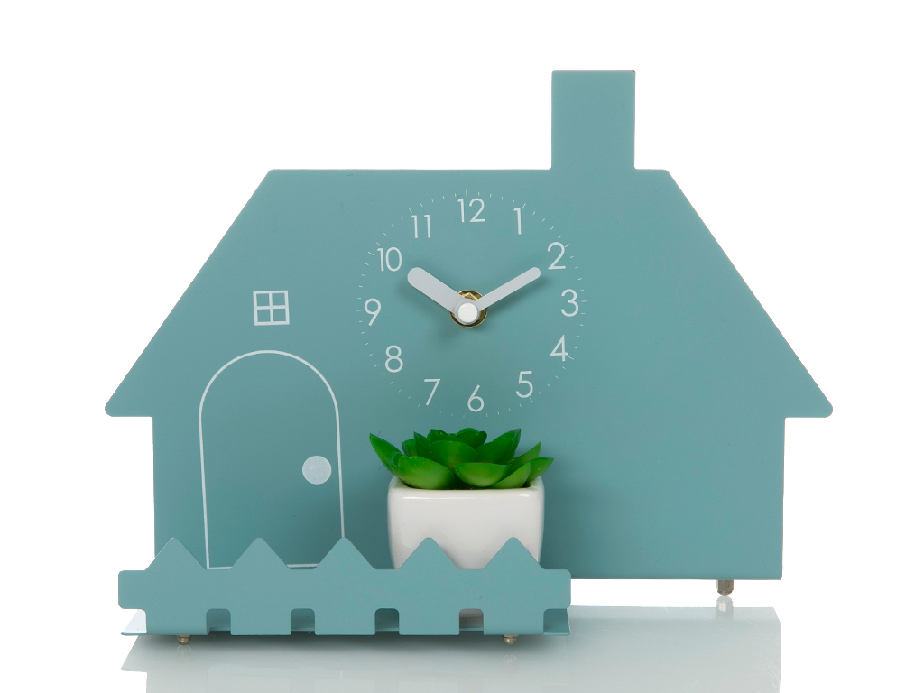 Summer House Masa Saatı 26x10x19 Cm Mavi
