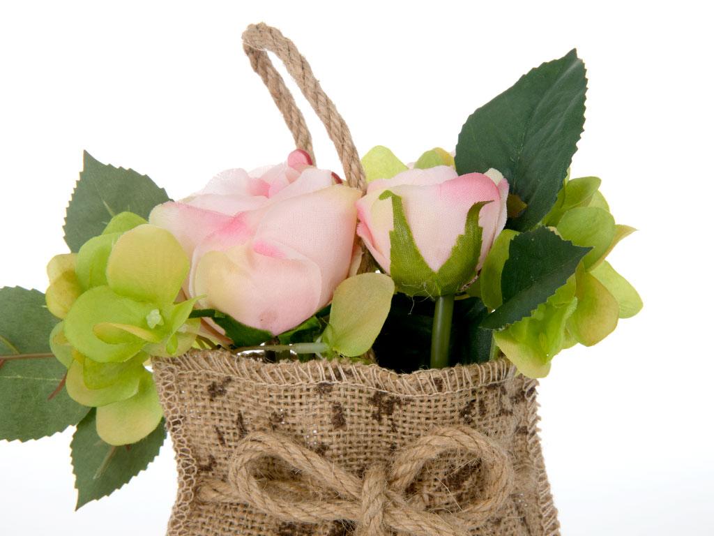 Rose Askılı Aksesuar 20 Cm Pembe