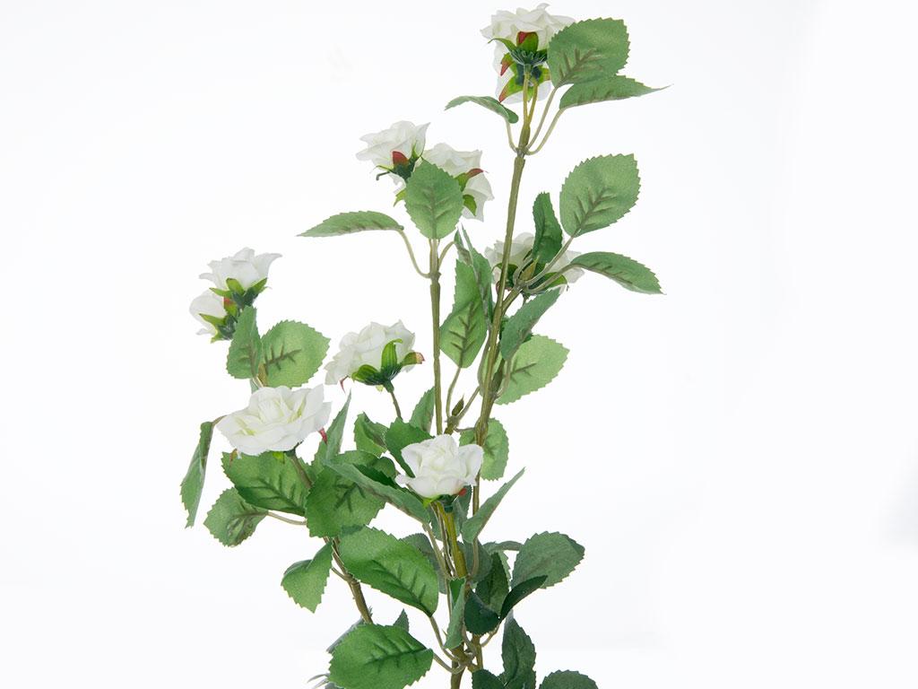 Rose Yapay Çiçek 72 Cm Beyaz