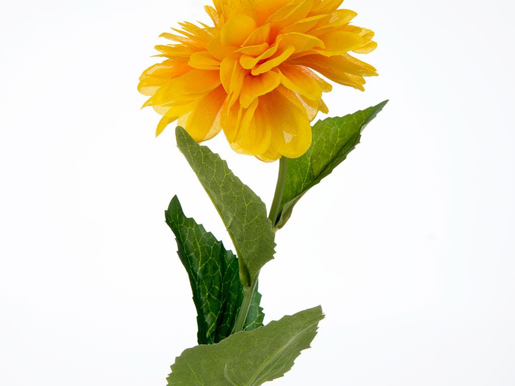 Dahlia Yapay Çıçek 53 Cm Sarı