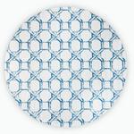 Adelmo Baskılı Yuvarlak Halı 100 Cm Ekru - Mavi