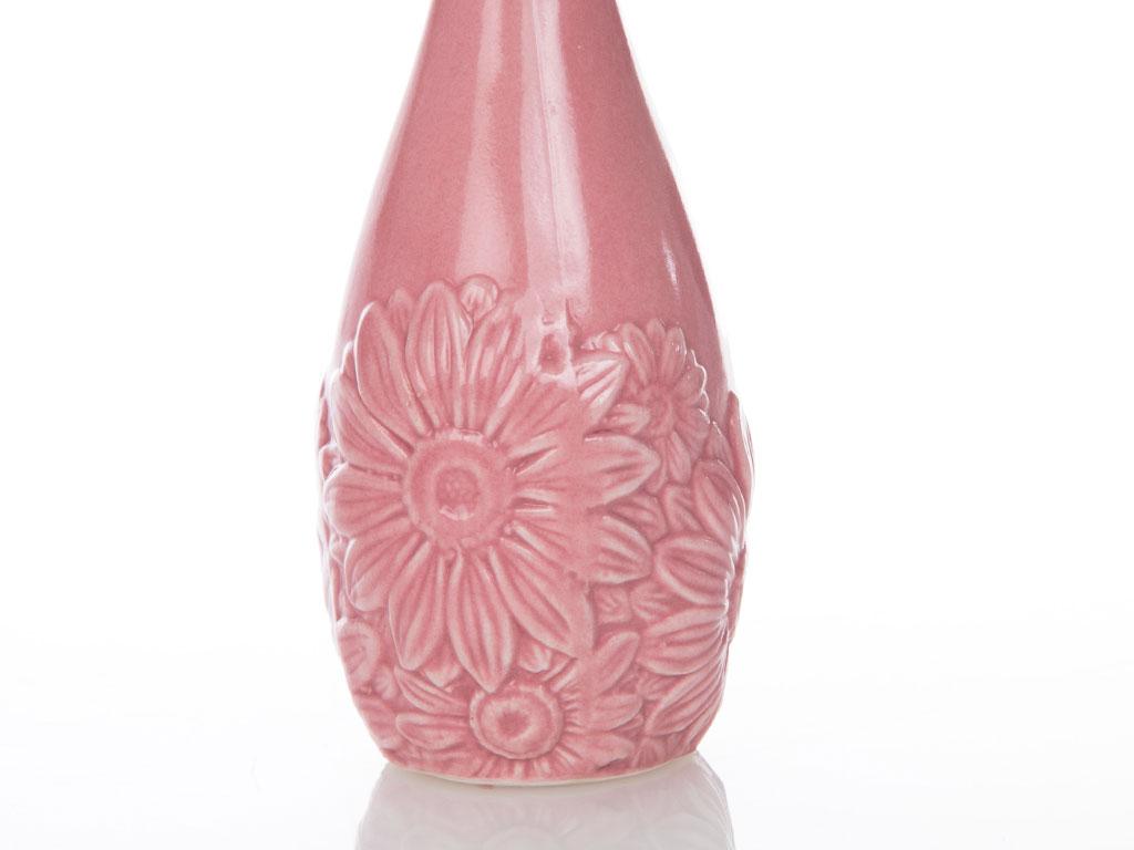 Carpe Diem Porselen Vazo 10x10x15,5 Cm Pembe