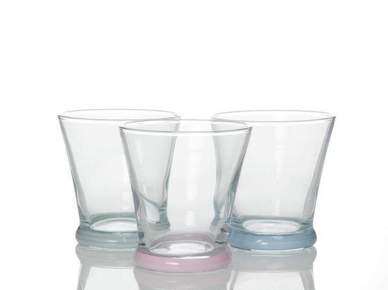 Olimpia Cam 3'lü Meşrubat Bardağı 170 Cc Renkli