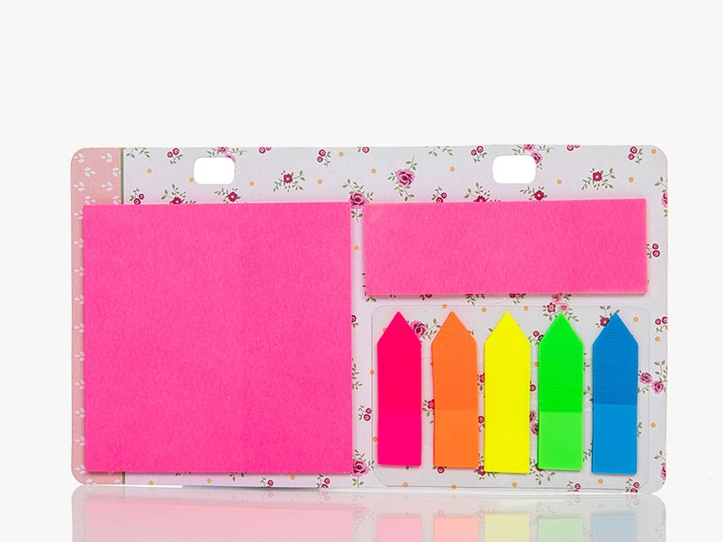 Rosey Yapışkanlı Not Defteri 22x9,5 Cm Renkli