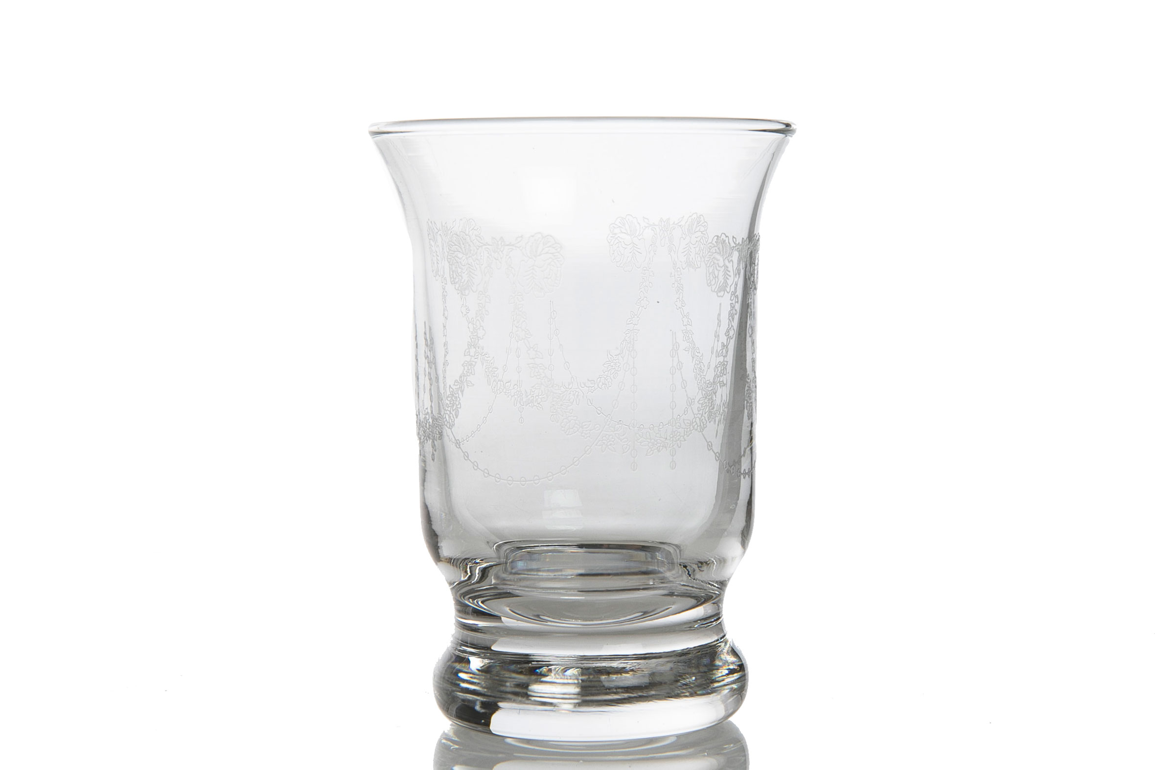 Desenli Cam 6'lı Kahve Yanı Su Bardağı 48x41x16 Cm Renkli