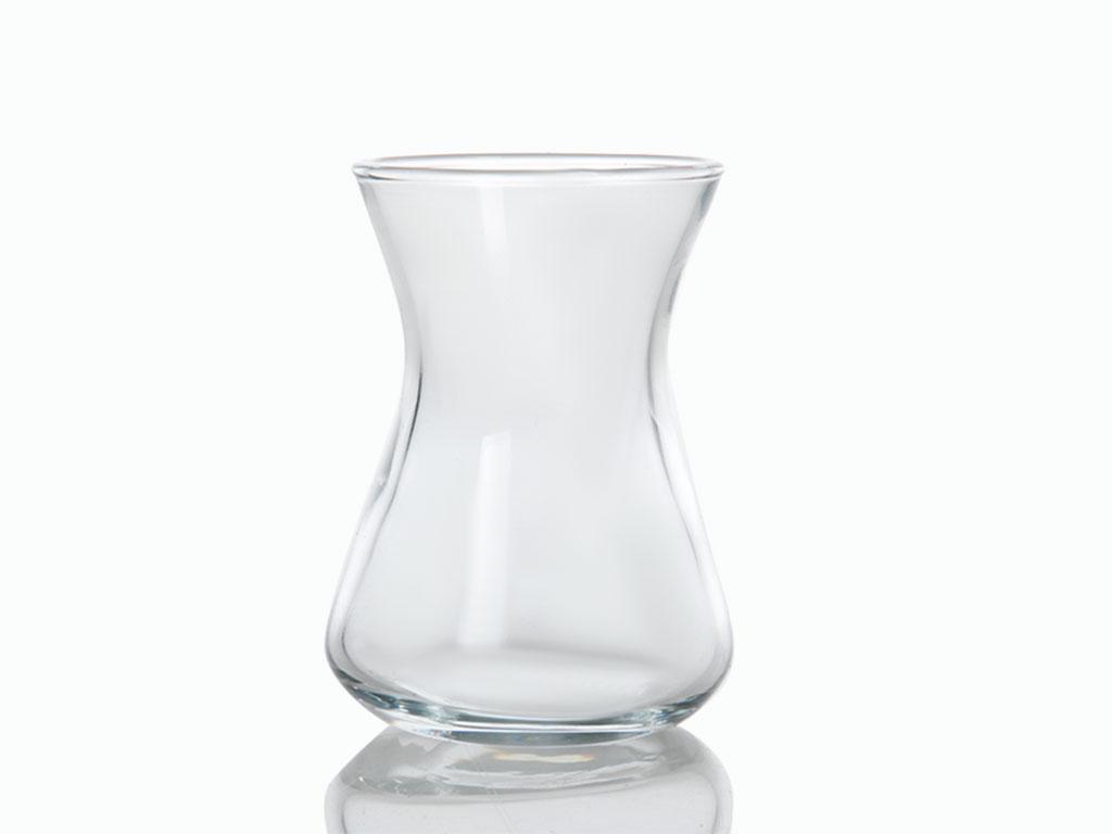 Düz Cam 6'lı Çay Bardağı 125 Ml Renkli