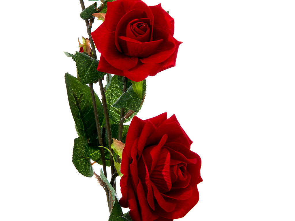 Velvet Rose Yapay Çıçek 78 Cm Bordo