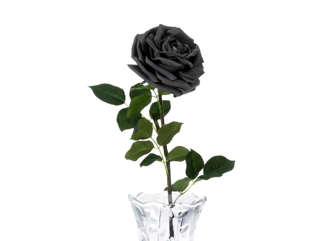 Glam Rose Yapay Çıçek 75 Cm Koyu Gri