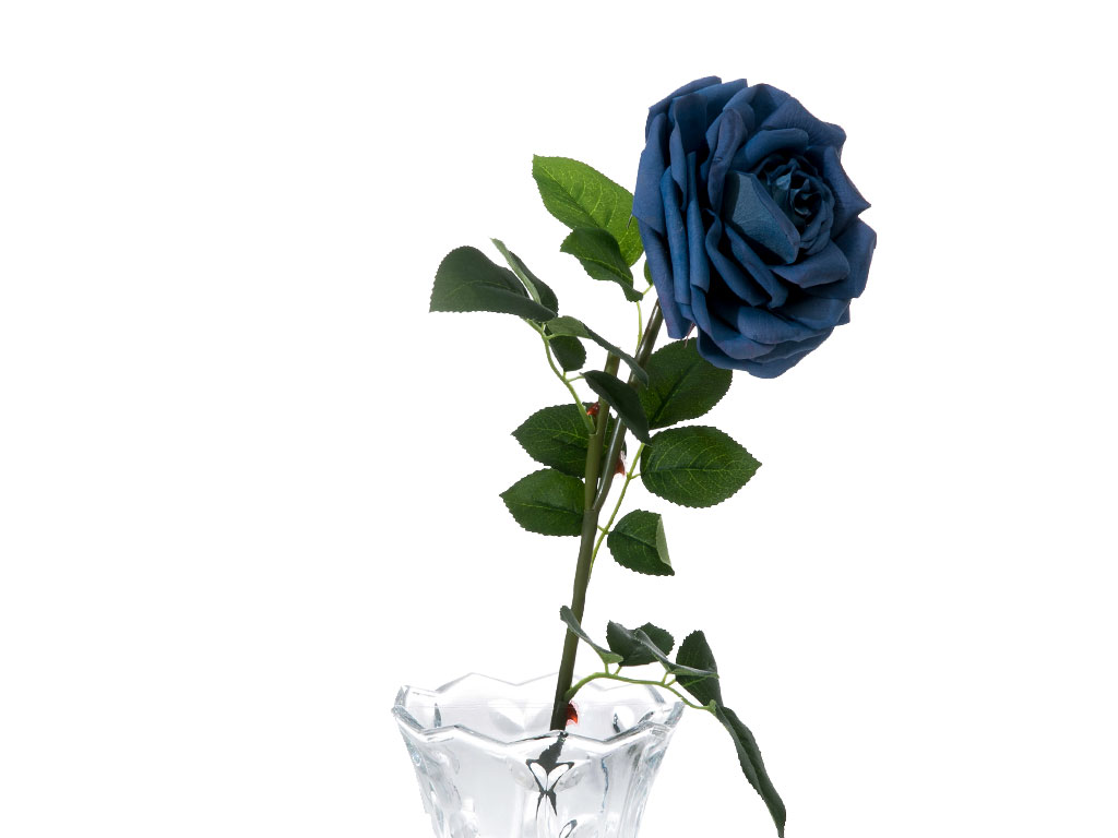 Glam Rose Yapay Çıçek 75 Cm Açık Mavi